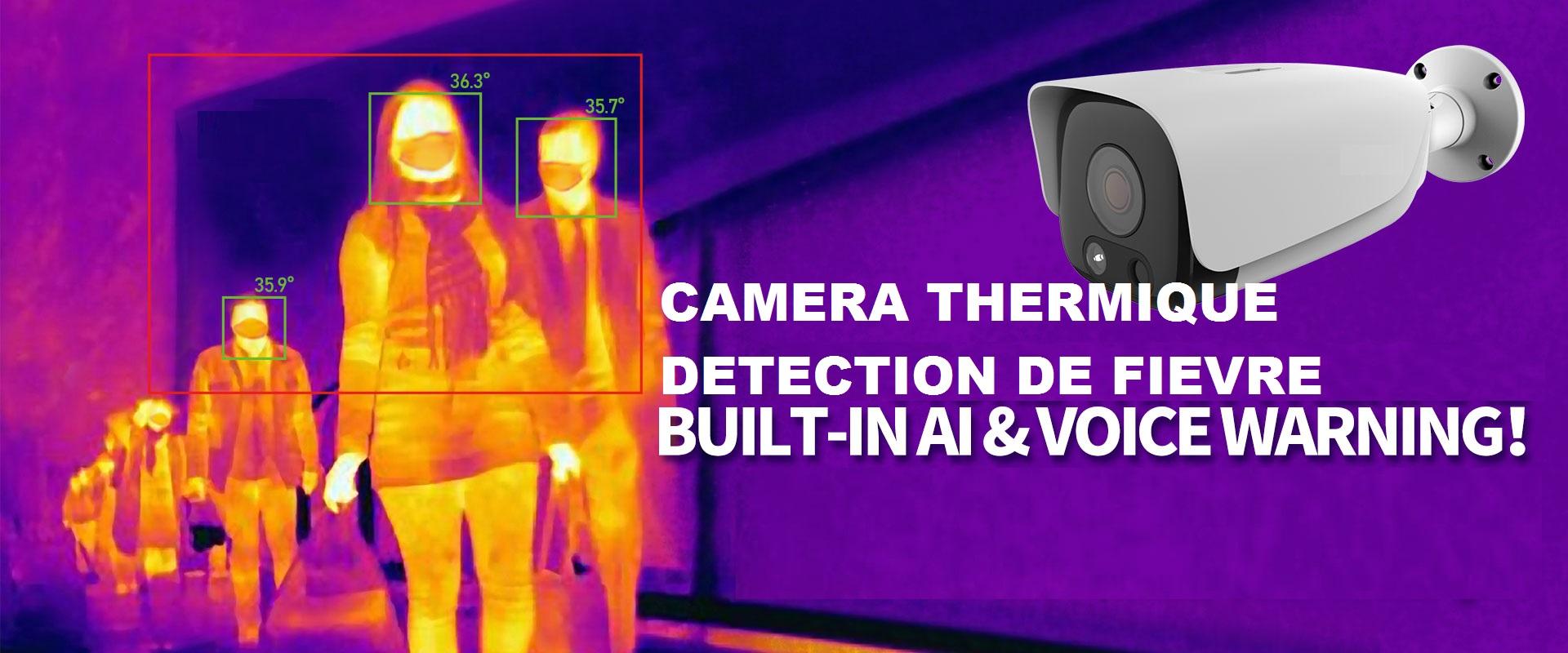camera thermique avec capteur de fievre et masque